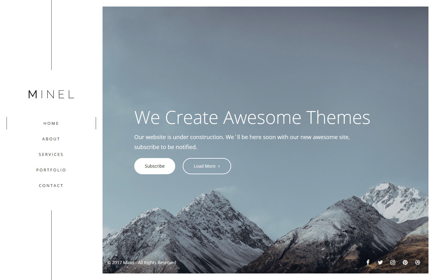 Minel - Responsive Minimal Site Template