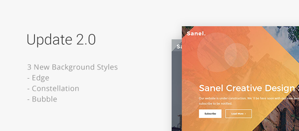 Sanel - Creative Coming Soon Template