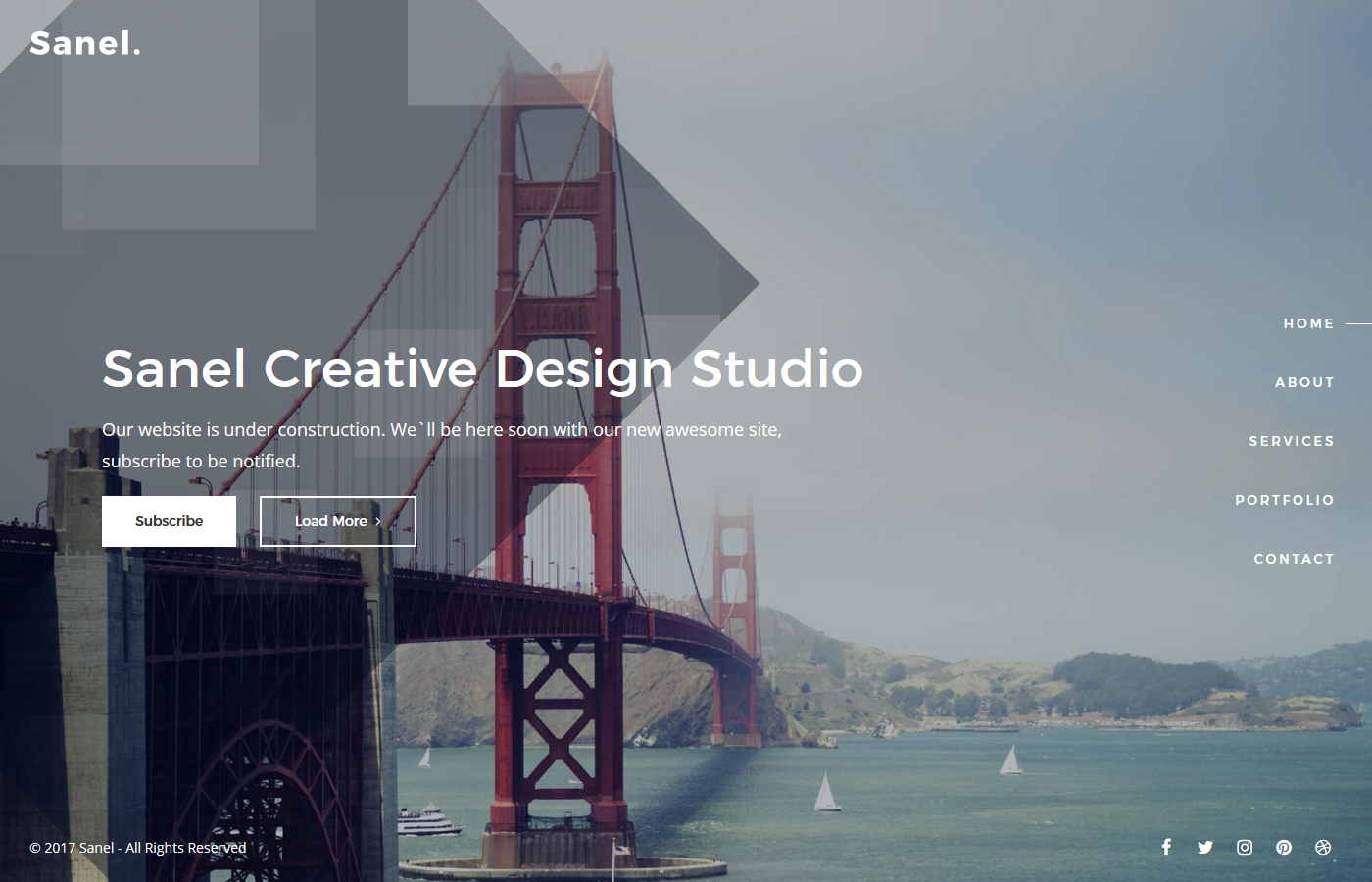 Sanel - Creative Coming Soon Template