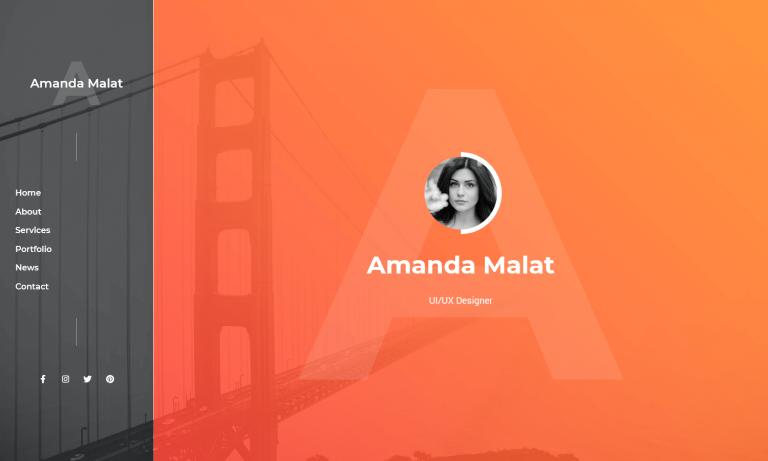 Malat - Responsive Personal / Portfolio / Resume Template