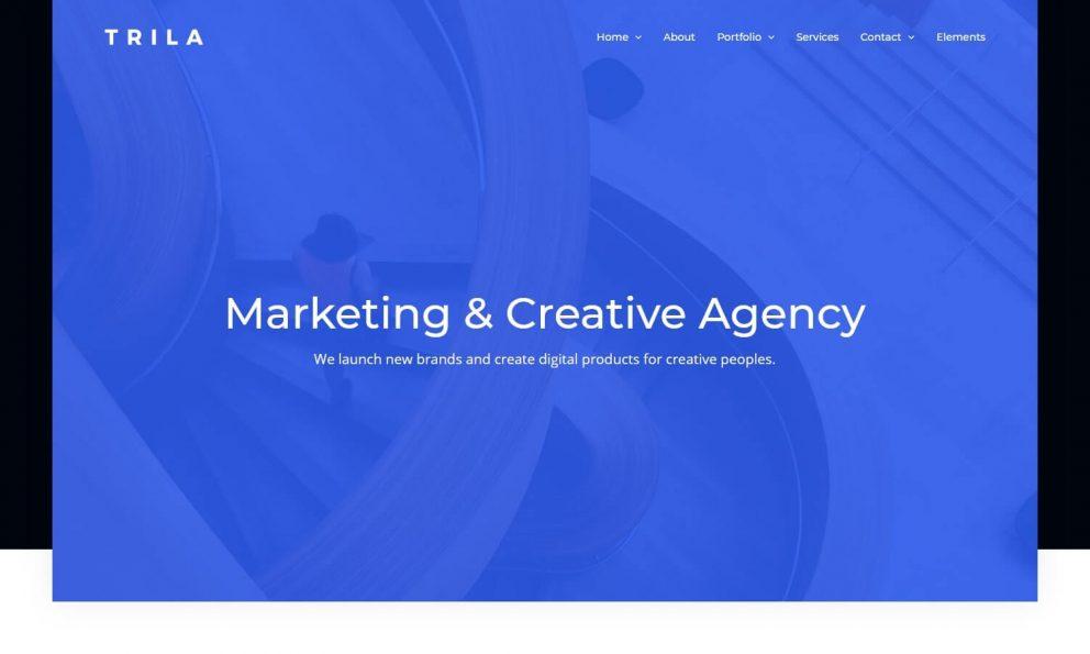 Trila - Ajax Based Creative Template