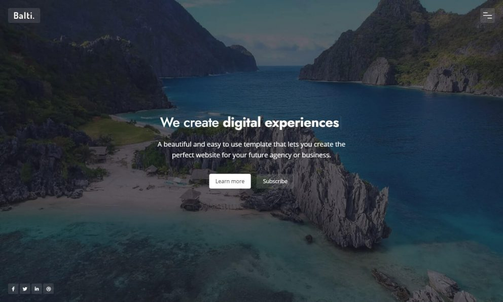 Balti - Bootstrap Coming Soon Template
